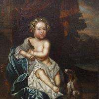 Portrait of a child c. 1685, Attributed to John Meheux