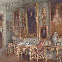 The Ballroom at Knole, Cyril Roberts R.B.A, P.S